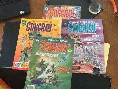 Four Vintage Stingray Comics Issue No 9;10;22 & Vol2 No1 Excellent