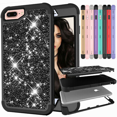 Girl & Women Bling Glitter Shockproof Phone Case Cover For iPhone 8 7 6S 6 Plus