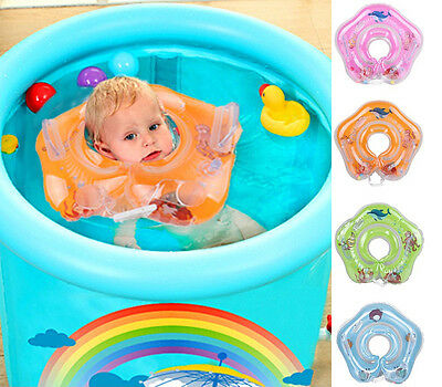 Newborn Baby Inflatable Swimming Ring Neck Tube Safety Infant Bathing Swim Rings