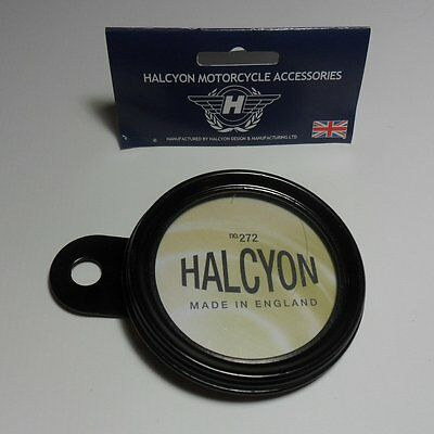 Halcyon Tax Disc Holder Black Made in England