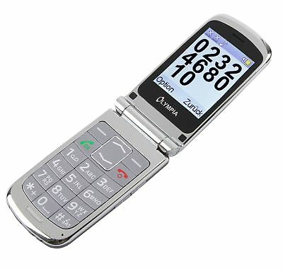 Olympia Style plus Silver Seniors Comfort Cell Phone Phone with Large Buttons