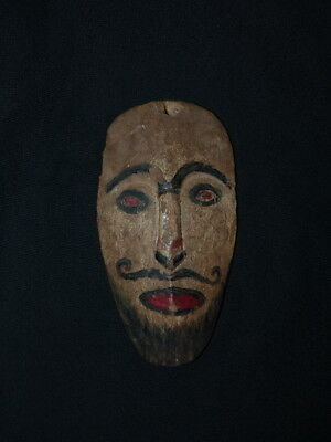 Miniature Mask/ceremonial Charm From The Dayak, Borneo Island