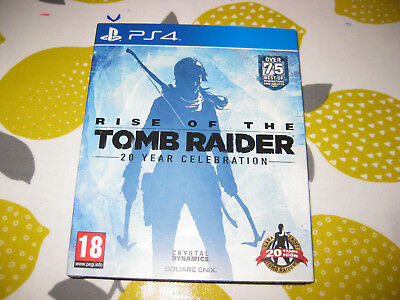 RISE OF THE TOMB RAIDER - 20 Year Celebration - Sony PS4 Game - MINT