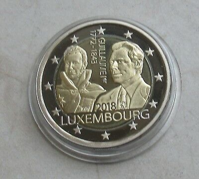 """Luxemburg 2018 2 Euro GM aus KMS """" 175. Todestag Guillaume I."""" in PP / Proof"""