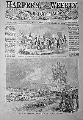 BATTLE OF BULL RUN Indepth! 1861 Harper's Weekly CARTHAGE, MO / LAURAL HILL