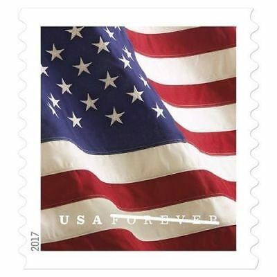 *200 FOREVER STAMPS* 2 rolls of 100 2017 USPS Forever US Flag Stamp Coil-NEW