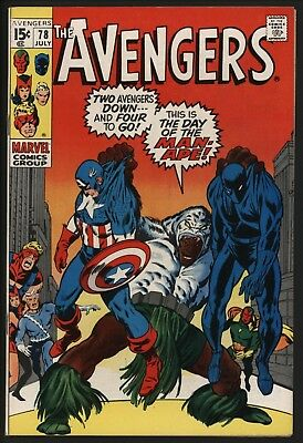 Avengers 78. Black Panther Vs Man-Ape. Vfn Glossy Cents With Great Pages