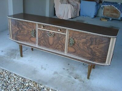Retro Formica Sideboard Vintage Cocktail Cabinet Tv Stand Home Bar Mid Century