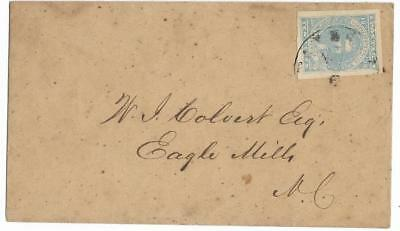 CSA Cover to W. I. Colvert, Esq in Eagle Mills, NC with CS #2 Stamp