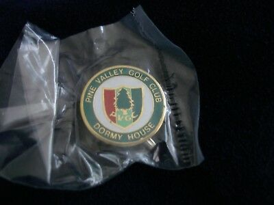 Scarce Vintage PINE VALLEY GOLF CLUB Early Logo LAPEL PIN / Mint New in Package
