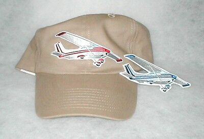 HAT With CESSNA 172 Airplane Aircraft Emblem Aviation Low Profile Khaki Hat