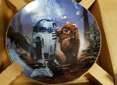 Hamilton Star Wars R2-D2 and Wicket the Ewok Limited Numbered Plate with COA