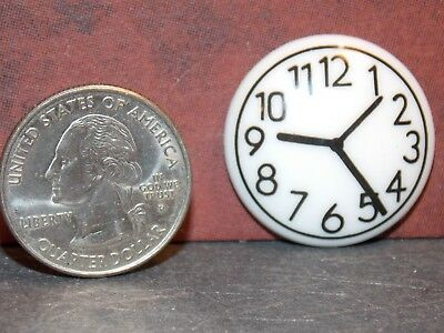 Dollhouse Miniature Wall Clock White 1:12 one inch scale F14 Dollys Gallery