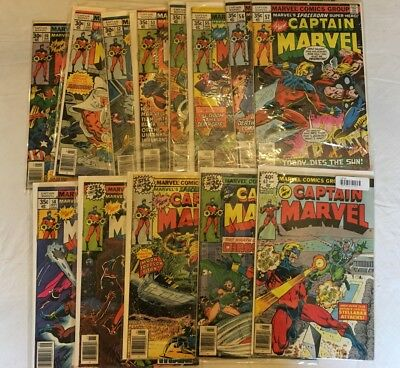 Captain Marvel Comics Huge 29 Comic Book Collection Lot Set
