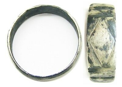 Nice Ancient Roman Silver Ring Henig type XI c. 2nd - 3rd century A.D Size 8 3/4