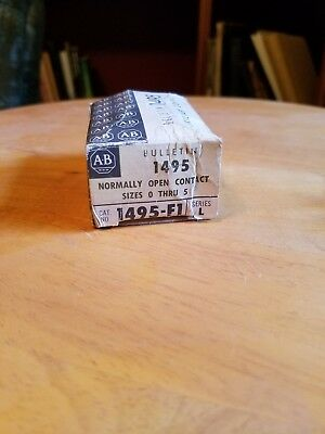 New In Box Allen-Bradley Auxiliary Contact 1495-F1 Series L