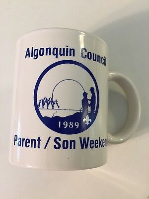 Vintage Algonquin Boy Scout Council Parent/Son Weekend Coffee Mug 1989