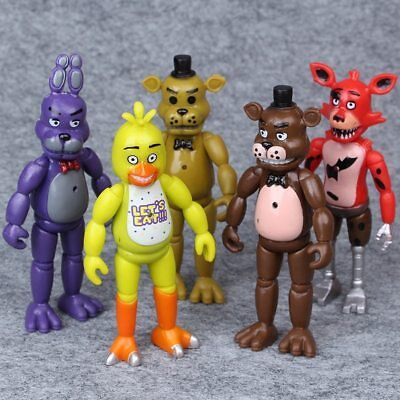 5pcs Five Nights At Freddy's FNAF 5.5'' Action Figures With Light Kids Toy Gifts