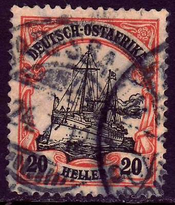 EAST AFRICA GERMAN COLONY Mi. #34 used Kaiser Yacht stamp! CV $30.00