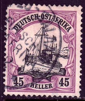 EAST AFRICA GERMAN COLONY Mi. #28 used Kaiser Yacht stamp! CV $55.00