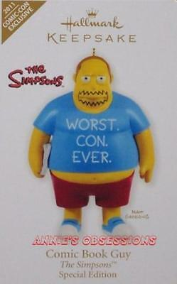 Hallmark 2011 * Sdcc* Comic Con Exclusive* The Simpsons* Comic Book Guy* Limited