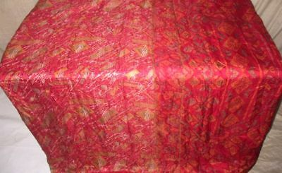 Red Pure Silk 4 yd Vintage Antique Sari Saree engagement Hot Selling Gift #9CZLU