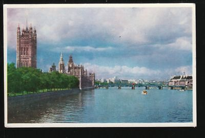3891* AK [UK] London - Houses of Parliament from the River (1957)