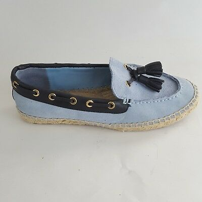 accb522a9c0 Tory Burch Espadrille Loafer Blue Suede Tassel Women s 6