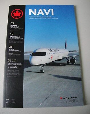 Air Canada NAVI  In- Flight Booklet - AC Fleet, Routes, Services and People NEW