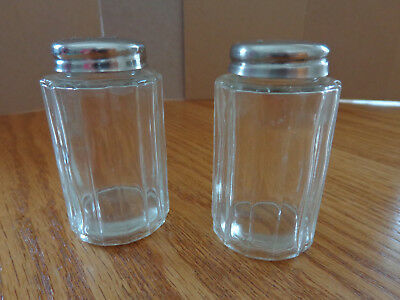 Clear Glass- salt and pepper shakers