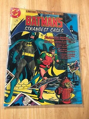 Dc Limited Collectors Edition #c-59 Fine Batman's Strangest Cases 1978