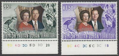 British Indian Ocean Territory, 1972 Silver Wedding. SG 45-6 Unmounted Mint MNH