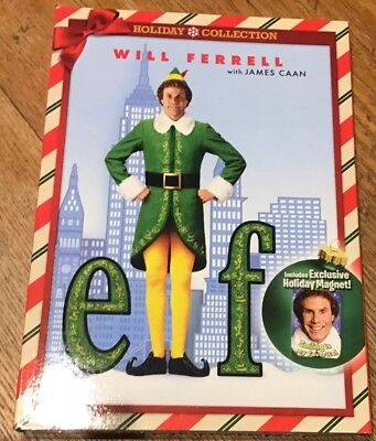 Elf DVD Will Ferrell Slipcover Magnet Holiday Edition NEW