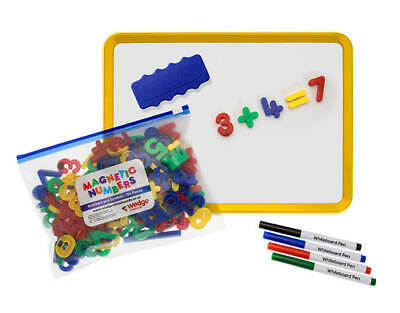 Wedge Jotter Set with 156 Numbers & Symbols Dry Wipe Kids Magnetic Whiteboard