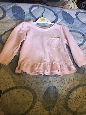 Young Dimensions 9-12 Months Light Pink Long Sleeved Top