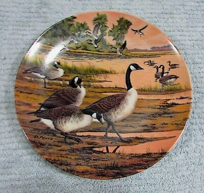 Canada Goose Winter Home Donald Pentz Art 1987 Dominion Collector Plate FREE S/H