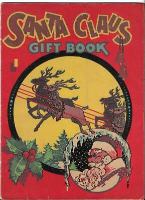 1940s SANTA CLAUS CHRISTMAS GIFT BOOK MEIER & FRANK  GAMES PAPER AIRPLANE ETC