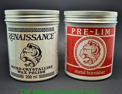 RENAISSANCE WAX & PRE-LIM SURFACE CLEANER TWIN PACK 200ml