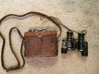 WW1 1916 dated britsh case with bnoculars ID'd