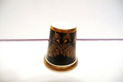 Thimble B China Wedgwood Tcc's Museum Collection Ferns  Htf