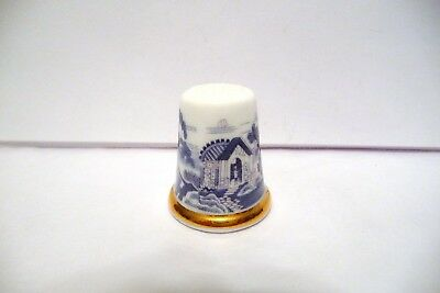 Thimble B China Wedgwood Tcc's Museum Collection Japanese Garden  Htf