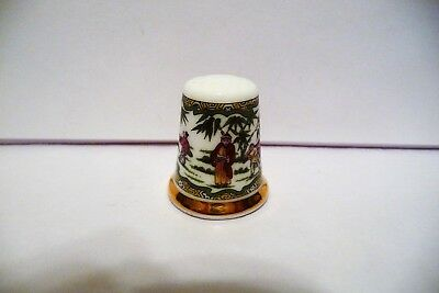 "Thimble B China Wedgwood Tcc's Museum Collection ""chinese Figures"" Htf"