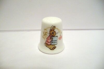 "Thimble Bone China Wedgwood England '83 Beatrix Potter's ""benjamin Bunny"""