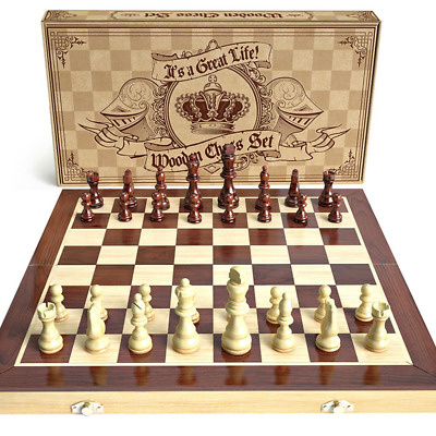 AGREATLIFE Wooden Chess Set: Universal Standard Board Game Set - Handcrafted...