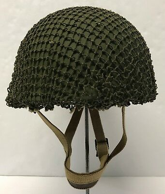Original WWII British MK2 Airborne Helmet w/1953 Dated Liner