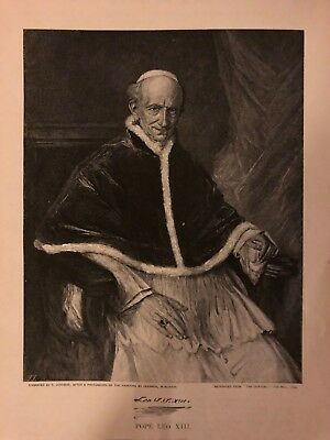 1896 Pope Leo XIII and His Household Vatican illustrated