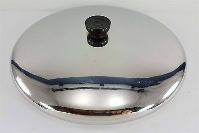 """Large Revere Ware 12"""" Stainless Steel Lid for Skillet, Pan or Pot"""