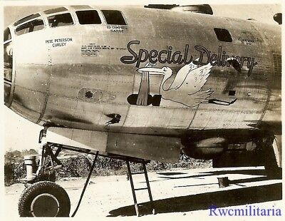 "Org. Nose Art Photo: B-29 Bomber ""SPECIAL DELIVERY""!!!"