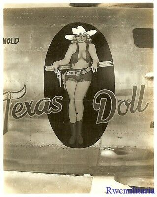 "Org. Nose Art Photo: B-29 Bomber ""TEXAS DOLL""!!!"