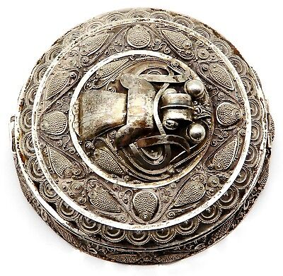 ORNATE Solid 800 Silver Compact Case